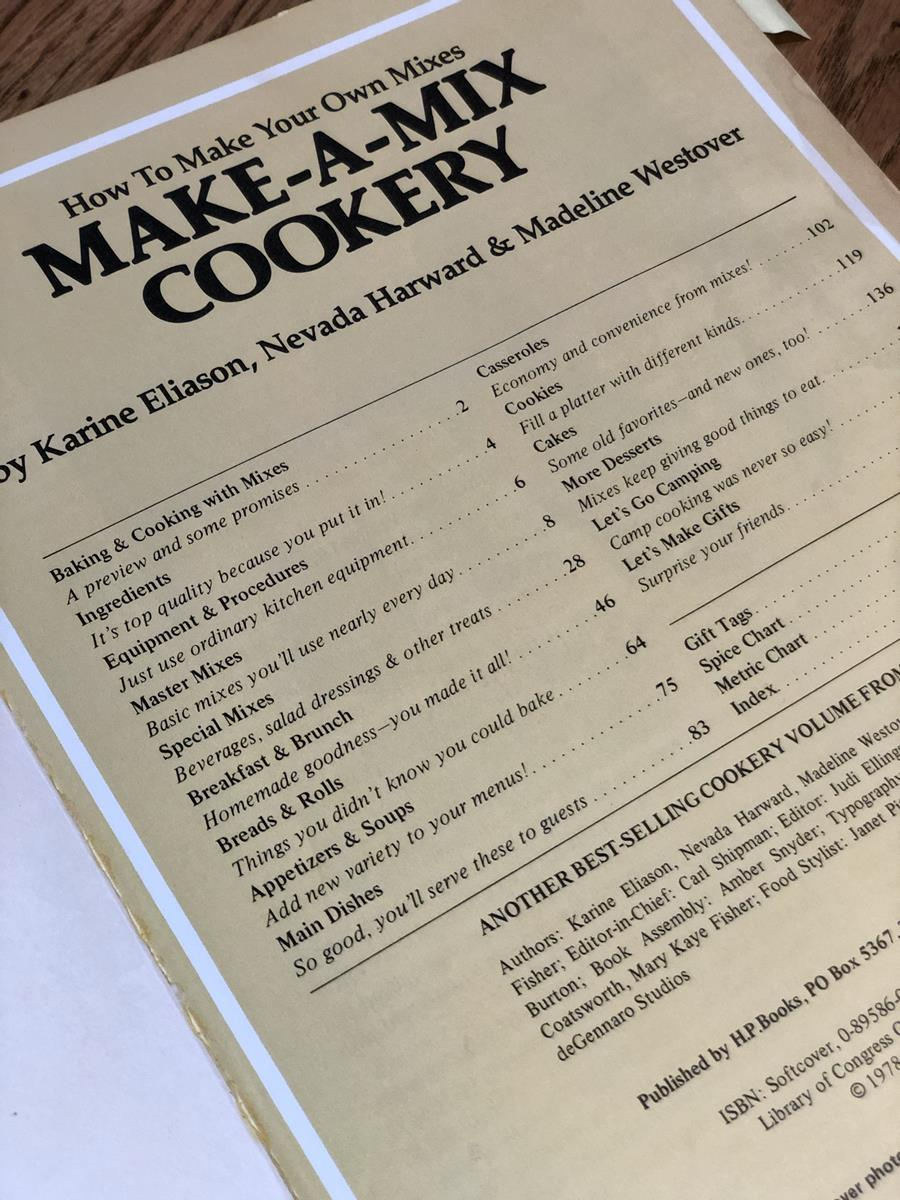 Make A Mix Cookbook Old Edition
