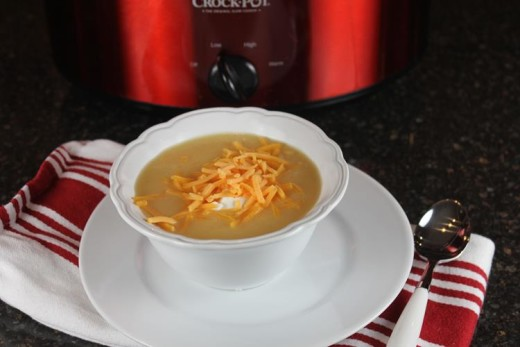 slow cooked baked potato soup