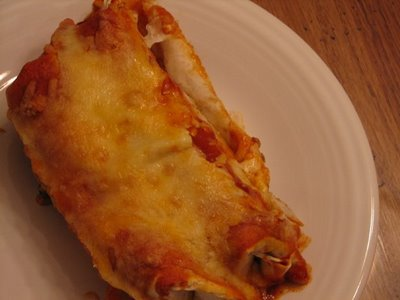 three cheese beef enchiladas