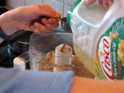 Making Peanut Butter Cooking with kids
