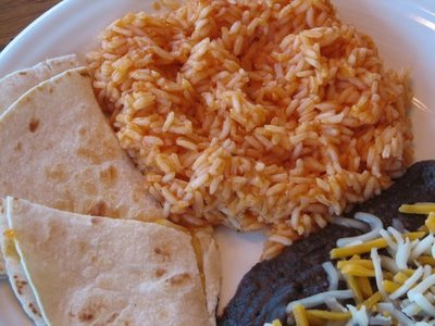 mexi rice and black beans