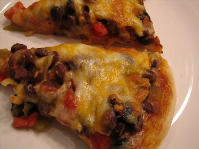Black Bean pizza