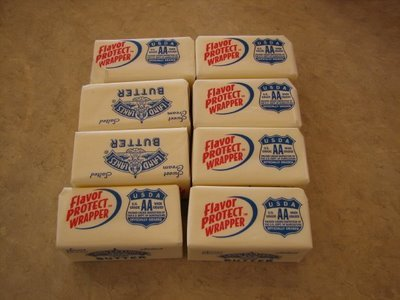 Small butter cubes