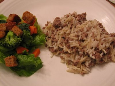 hamburger rice a roni homemade