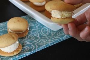 Vanilla Wafer Ice Cream Sandwiches