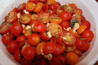 quick marinated cherry tomato salad recipes dishmaps quick marinated ...