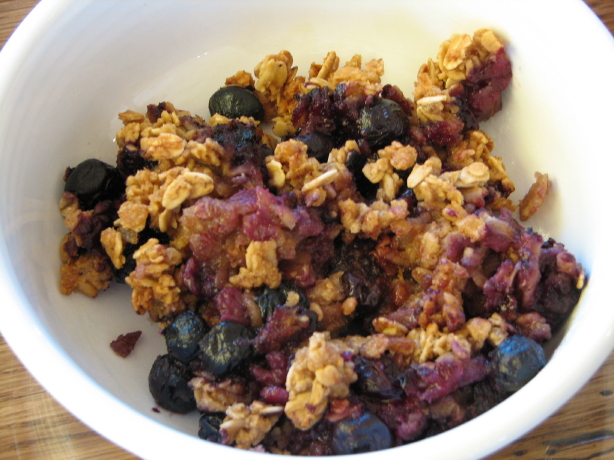blueberry granola breakfast bake