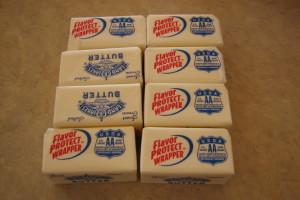 Small butter cubes