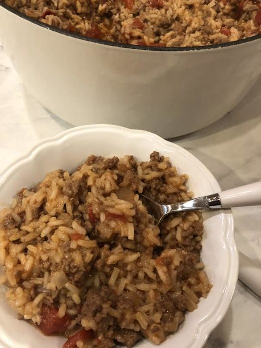 Easy Beef and Rice Dinner
