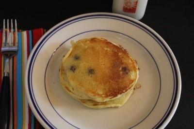 Sour Cream Blueberry Pancakes