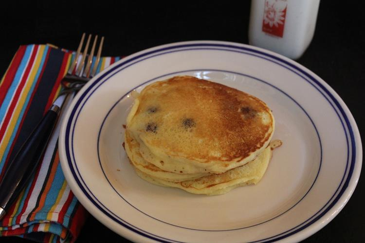 Sour Cream Blueberry Pancakes