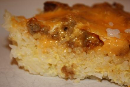 rice crusted quiche