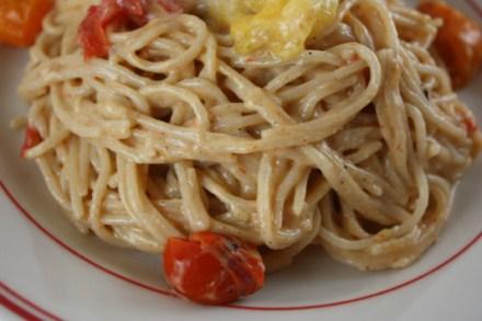 grilled tomato pasta