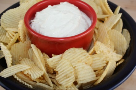 homemade onion dip recipe and chips