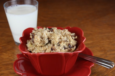 ... baked pumpkin oatmeal . I even posted my soy butter version that my