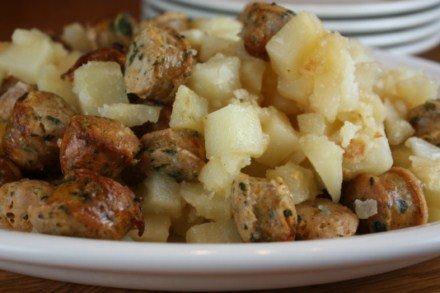 Potatoes and Sausage