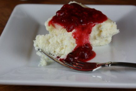 crustless white chocolate cheesecake
