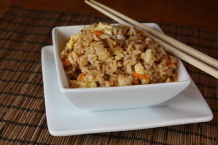 Fried rice is the perfect quick and easy meal.