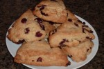 white chocolate cranberry scones