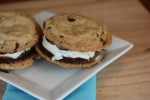 Hot Fudge Ice Cream Sandwiches