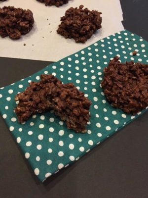 Two Ingredient Rice Krispies Cookies