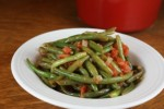 green bean and tomatoes