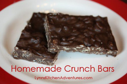 homemade nestle crunch bars