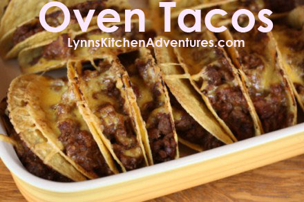 Oven Tacos from LynnsKitchenAdventures.com