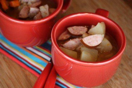 Crock Pot Bean and Sausage Soup