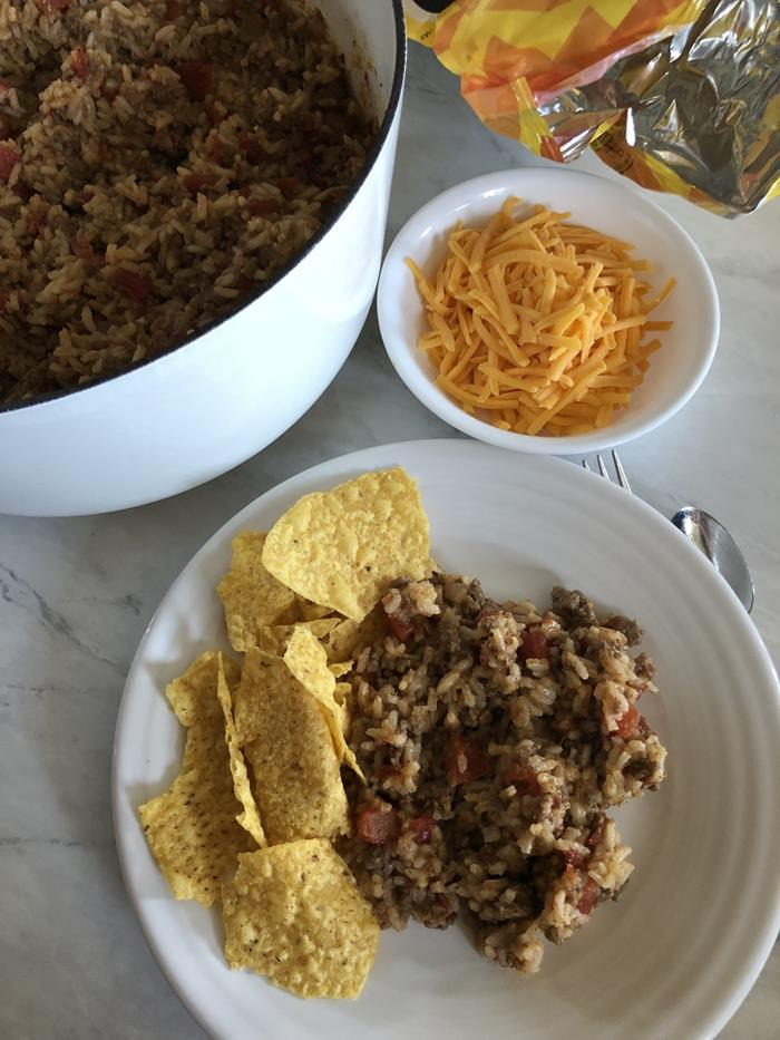 Ground Beef Taco Rice Dinner