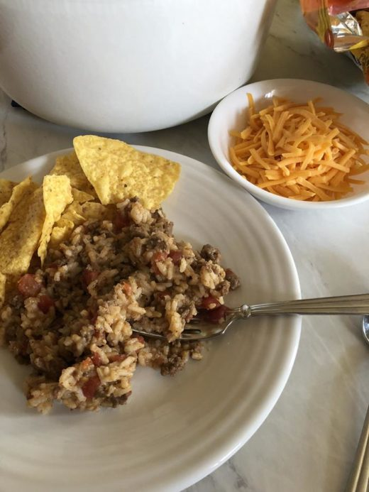 Ground Beef Taco Rice