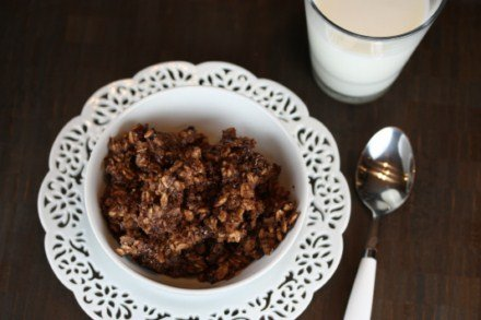 double chocolate baked oatmeal