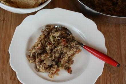 ground beef taco skillet rice