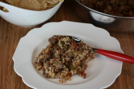 ground beef taco rice