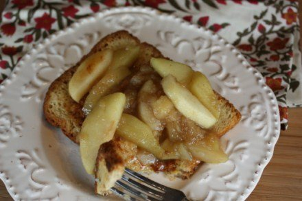 fried apples over french toast