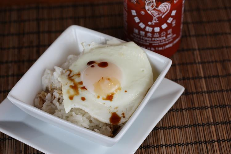 Eggs and Soy Sauce Over Rice
