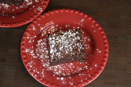 triple chocolate flourless brownie 2