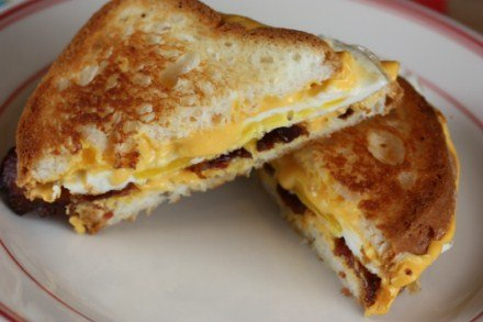 Bacon Egg and cheese grilled cheese sandwich 3 [Recipes]