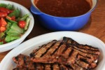 Spicy Grilled Pork Chops with Texas Ranchero Grillin' Beans