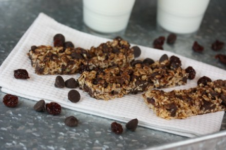 Dark Chocolate Cherry Granola Bars