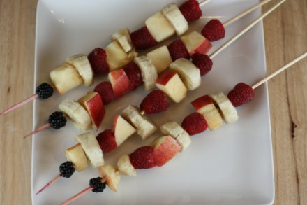 Red White and Blue kebabs [