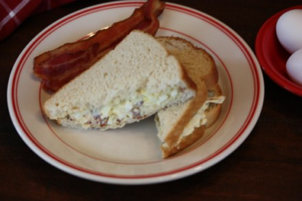 Bacon and Egg Salad Sandwiches