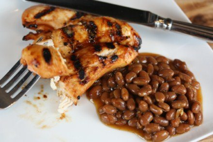 Easy Grilled Spicy Chicken Tenders with Texas Ranchero Grillin' Beans