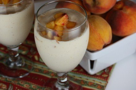 Homemade Peach Milkshake
