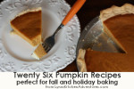 Twenty Six Pumpkin Recipes {Perfect for Fall Cooking and Holiday Baking}