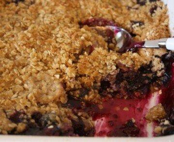Gluten Free Blueberry Cobbler