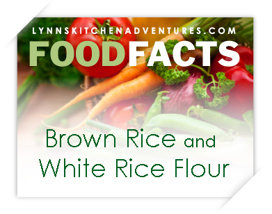 Brown Rice and White Rice Flour {Food Facts}