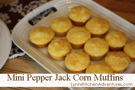 Mini Pepper Jack Corn Muffins