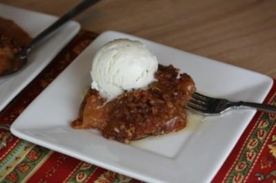 slow cooked butterscotch apple crisp