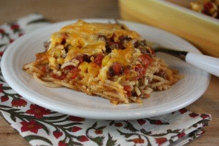 Southwest Baked Spaghetti